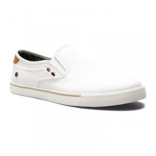 Wrangler vīriešu apavi MITOS SLIP ON Washed Thin Canvas / White