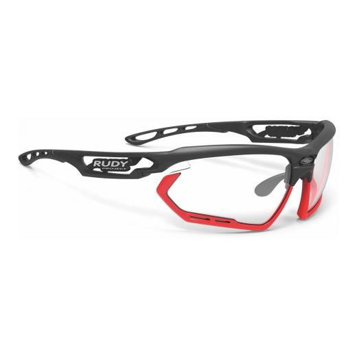 Rudy Project brilles FOTONYK - Matte Black / Bumpers Red Fluo / ImpactX Photochromic 2 Black